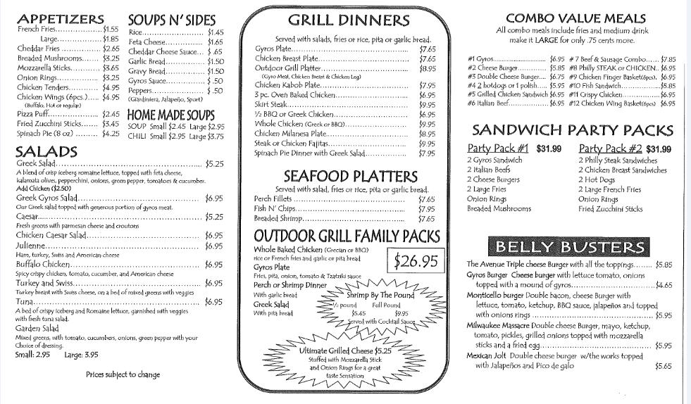 delightful outdoor grill menu Part - 3: delightful outdoor grill menu design